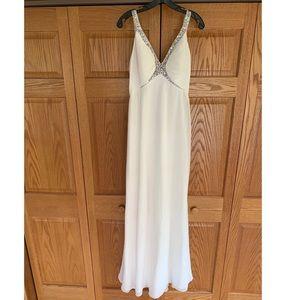 White Elegant Prom Dress